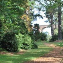 Malmsbury Botanic Gardens leading to the historic viaduct